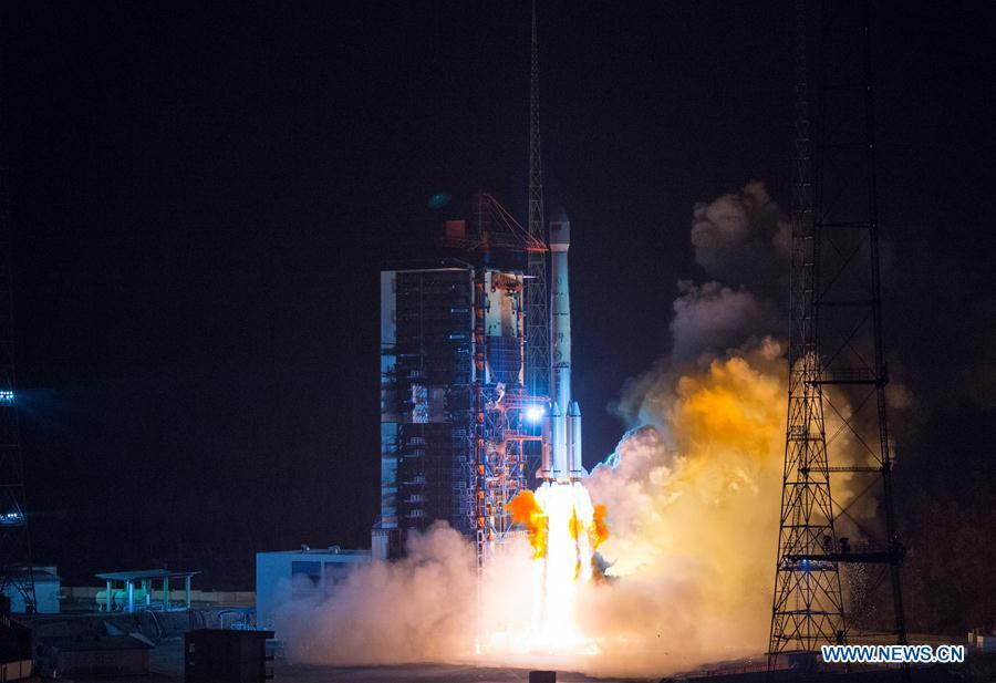 A Long March 3B rocket lifted off at 1657 GMT (11:57 a.m. EST) with the Belintersat 1 communications satellite. Credit: Xinhua