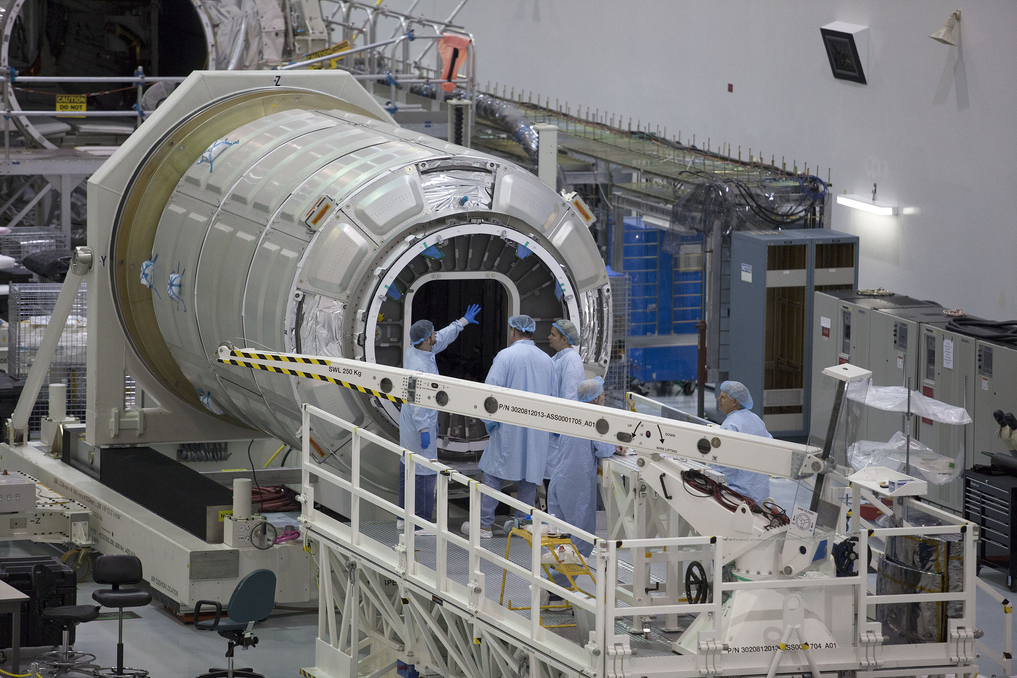 Cygnus sections arrive in florida for next space station for Space station florida