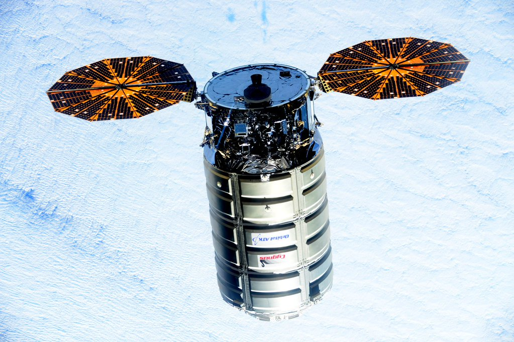 Orbital ATK's Cygnus cargo ship arrives at the International Space Station on Dec. 9 after liftoff aboard an Atlas 5 rocket. Credit: NASA
