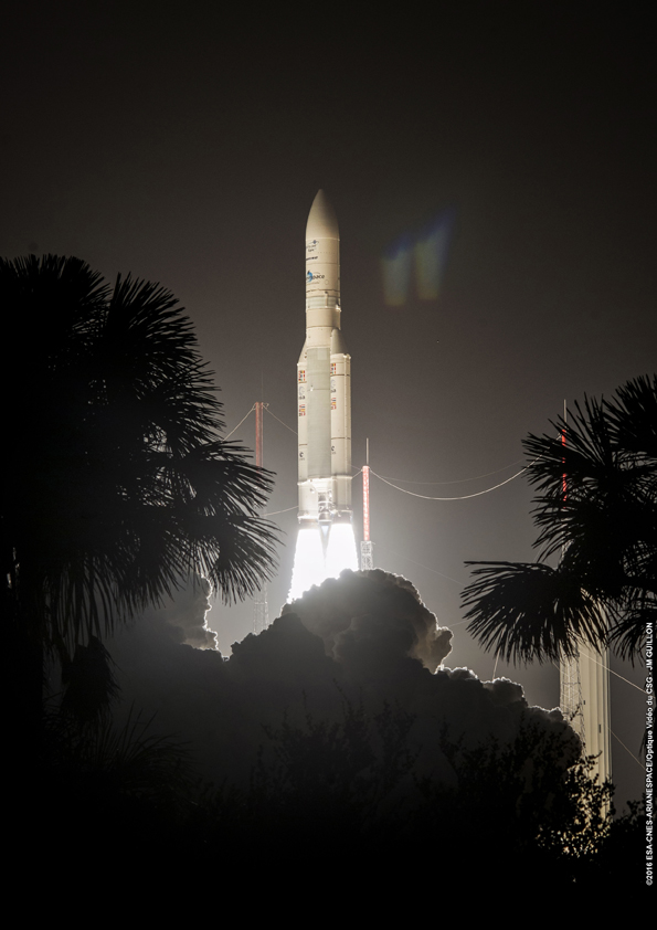 Photo credit: ESA/CNES/Arianespace – Photo Optique Video du CSG – JM Guillon