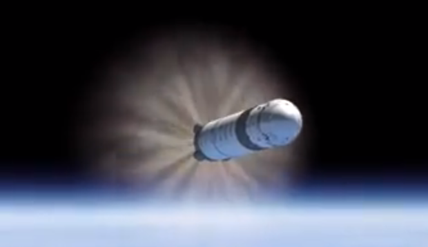 The Falcon 9 rocket's nine Merlin 1D first stage engines shut down.