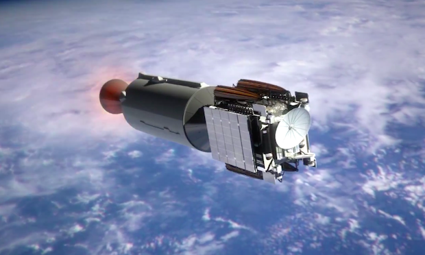 The Merlin 1D vacuum engine turns off after placing the Jason 3 satellite in temporary parking orbit, beginning at 46-minute coast in orbit.