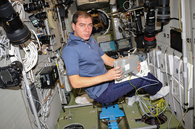 Russian cosmonaut Sergey Volkov will command the Soyuz TMA-18M spaceship on the way back to Earth Tuesday. Credit: NASA