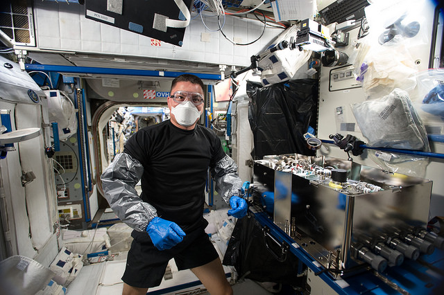NASA astronaut Kjell Lindgren aboard the International Space Station last year. Credit: NASA