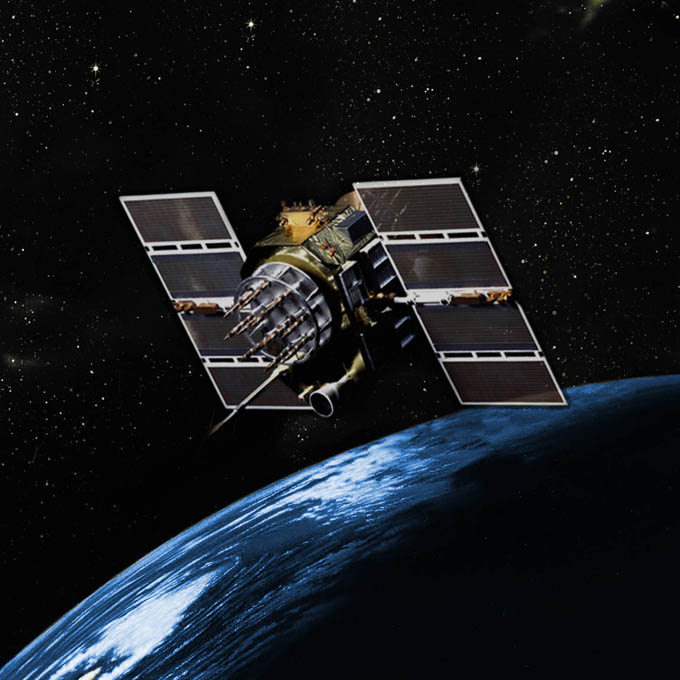 Artist's concept of GPS Block 2A satellite that is being retired. Credit: Boeing