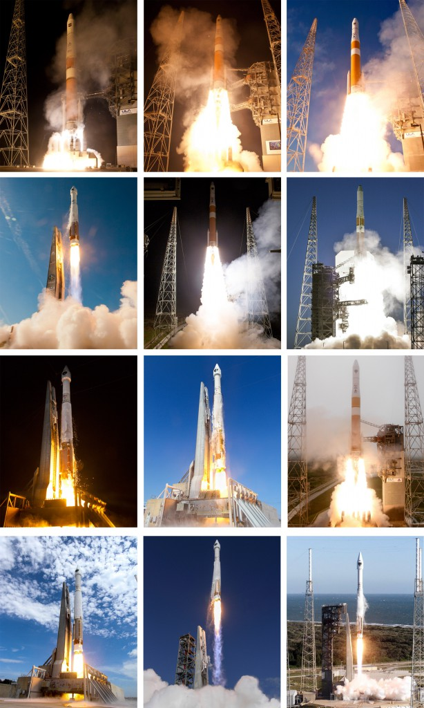 The 12 launches of Block 2F since 2010. Photos by ULA