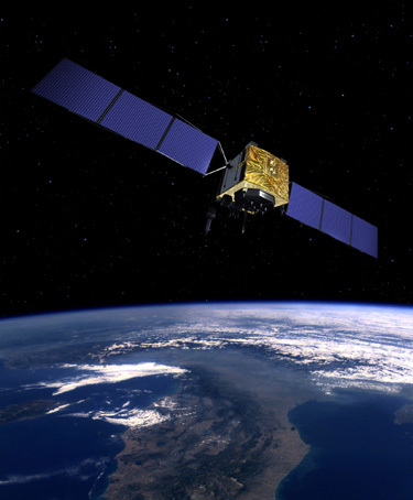 Artist's concept of the GPS 2F-12 satellite. Credit: Boeing