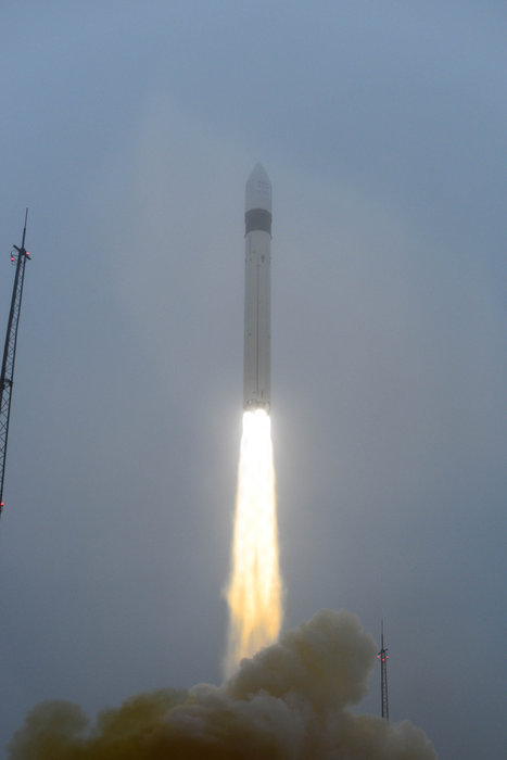 File photo of a previous Rockot launch from the Plesetsk Cosmodrome in Russia. Credit: ESA–Stephane Corvaja, 2013