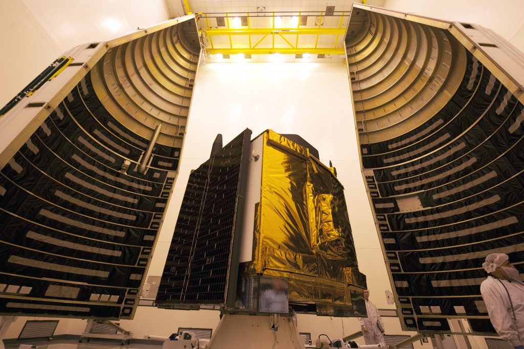 The GPS 2F-12 satellite. Credit: ULA