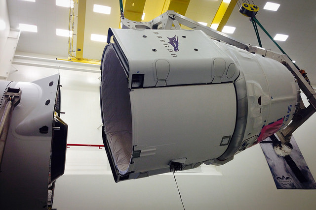 File photo of a SpaceX Dragon cargo capsule. Credit: SpaceX
