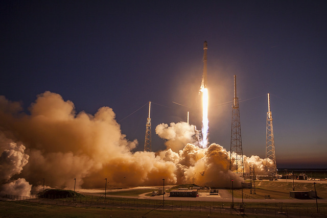 SpaceX's Falcon 9 rocket blasted off at 6:35 p.m. EST (2335 GMT) Friday. Credit: SpaceX