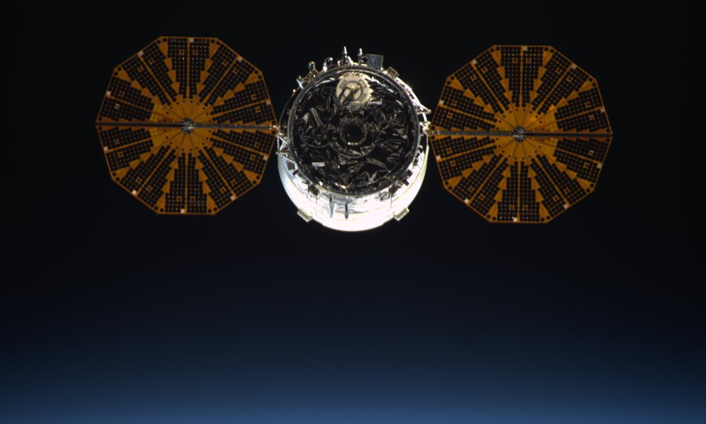 File photo of most recent Cygnus. Credit: Tim Peake
