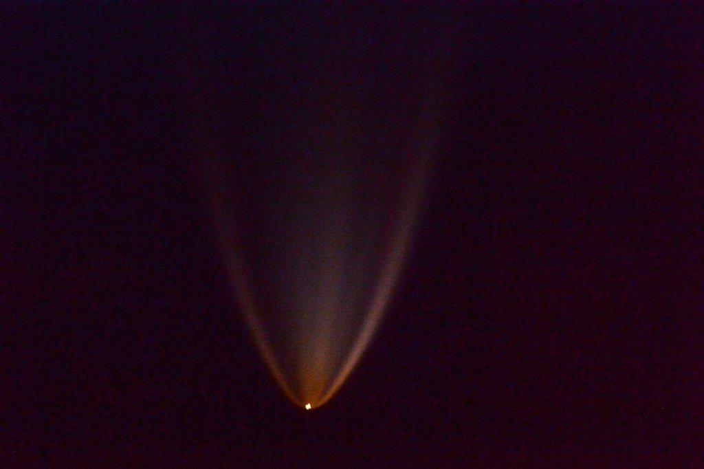 """Amazing to watch Progress 63P launch from #Baikonur #Kazakhstan - supplies to #ISS."" Credit: NASA/Tim Copra"