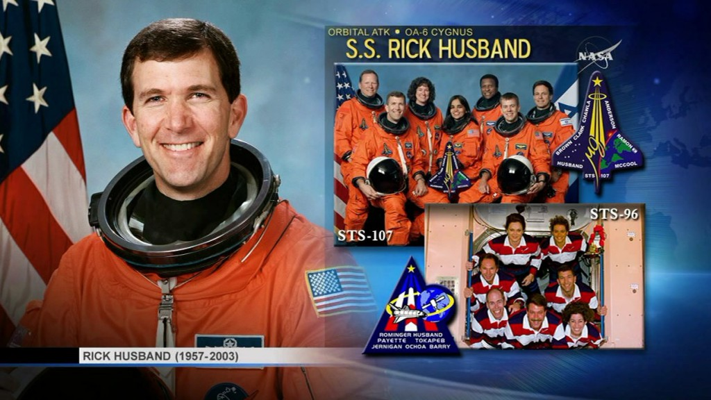 The S.S. Rick Husband. Credit: NASA TV