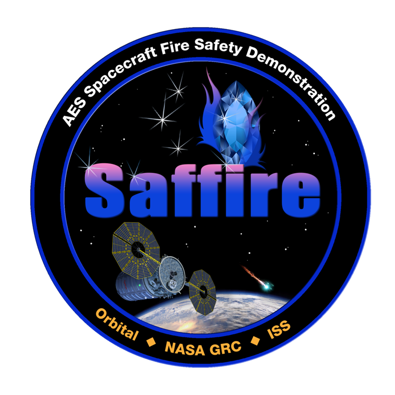 The SAFFIRE mission logo. Credit: NASA