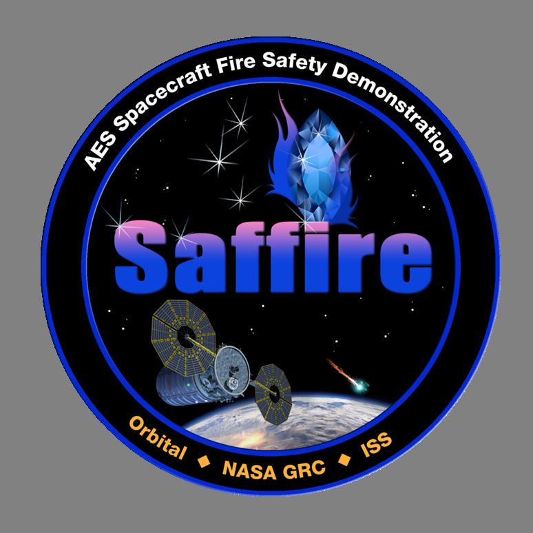 The SAFFIRE mission logo. Credit: NASA