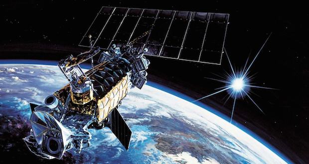 Artist's concept of a DMSP weather satellite in orbit. Credit: Lockheed Martin