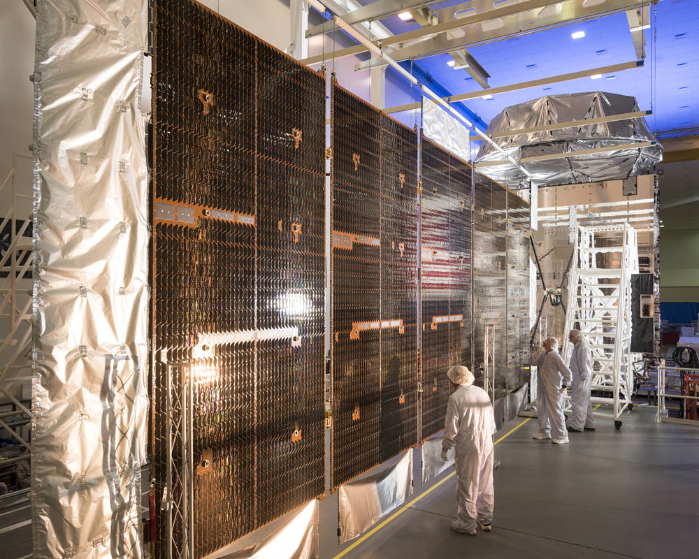 MUOS No. 5 solar array wing assembly. Credit: Lockheed Martin