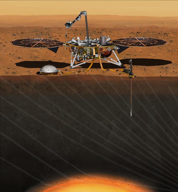 Artist's concept of the InSight lander on Mars. Credit: NASA/JPL-Caltech