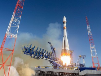 The Soyuz rocket carrying Russia's second Bars-M military spy satellite lifted off at 0942 GMT (5:42 a.m. EDT; 12:42 p.m. local time) Thursday. Credit: Russian Ministry of Defense