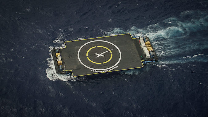 File photo of SpaceX's rocket landing platform. Credit: SpaceX