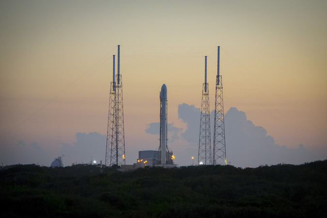 File photo of a Falcon 9 rocket on its launch pad at Cape Canaveral. Credit: SpaceX