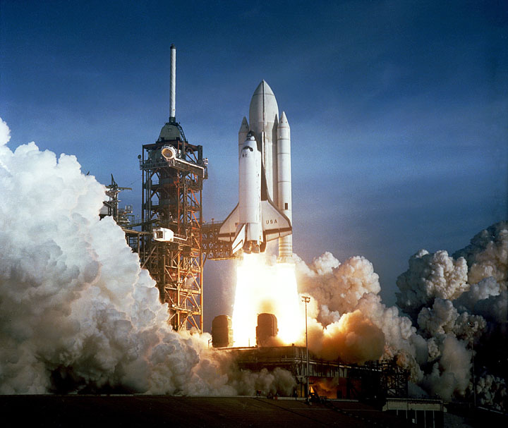 The launch of STS-1. Credit: NASA