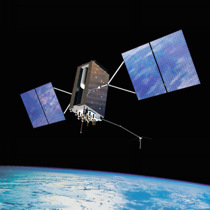 Artist's concept of a GPS 3 navigation satellite. Credit: U.S. Air Force