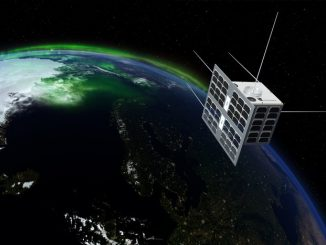 Artist's concept of the Norsat 1 microsatellite in orbit. Credit: ESA/T. Abrahamsen