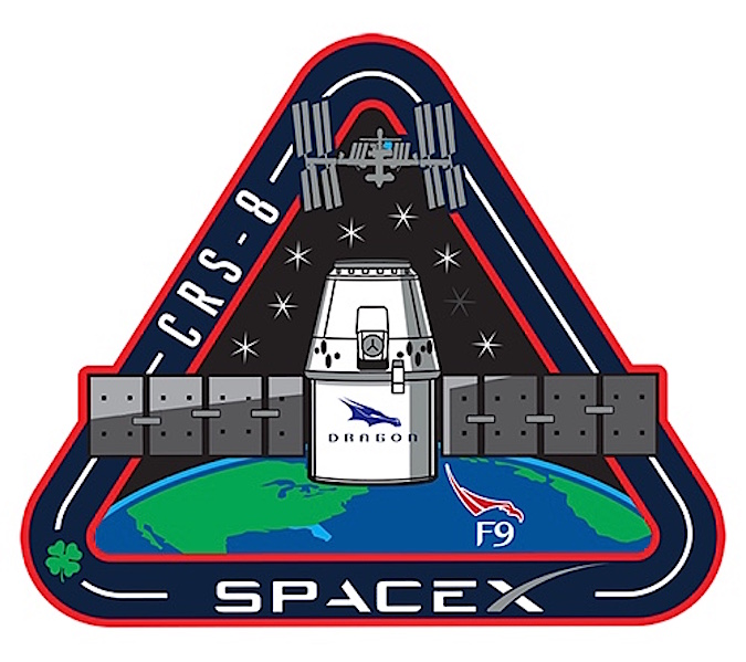 SpaceX's mission patch for the upcoming cargo mission.