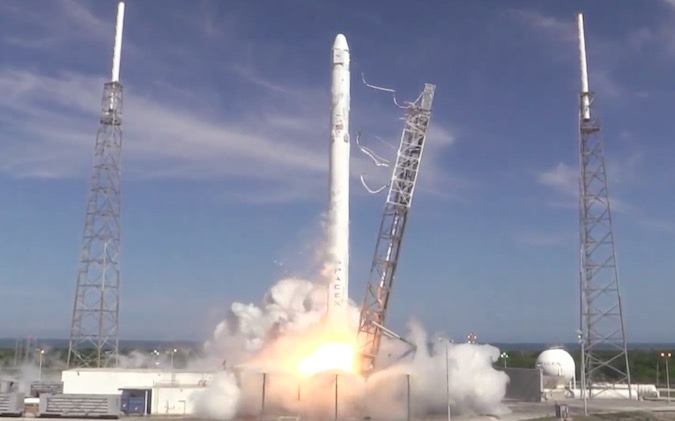 After the rocket's nine Merlin engines pass an automated health check, hold-down clamps will release the Falcon 9 booster for liftoff from Complex 40.