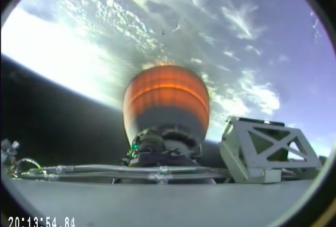 The second stage Merlin 1D vacuum engine ignites for an approximately 7-minute burn to put the Dragon spacecraft into orbit.