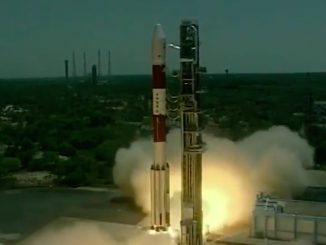 The Polar Satellite Launch Vehicle takes off Thursday with India's seventh navigation satellite. Credit: ISRO