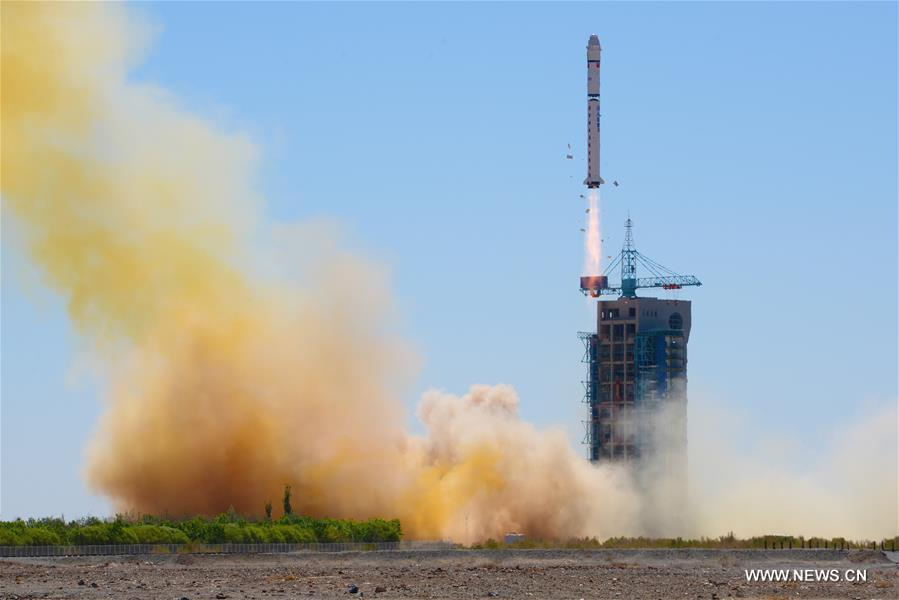 A Long March 2D rocket blasted off at 0243 GMT Sunday (10:43 p.m. EDT Saturday) from the Jiuquan space center. Credit: Xinhua
