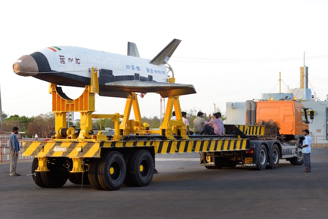 India's prototype reusable space plane blasted off at 7 a.m. local time Monday. Credit: ISRO