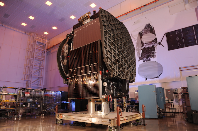 The Thaicom 8 satellite, pictured here at Orbital ATK's factory in Virginia, is designed for a 15-year mission. Credit: Orbital ATK