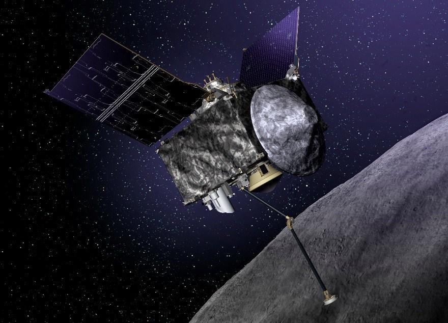 An artist's concept of OSIRIS-REx. Credit: Lockheed Martin