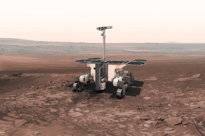 Artist's concept of the ExoMars rover. Credit: ESA