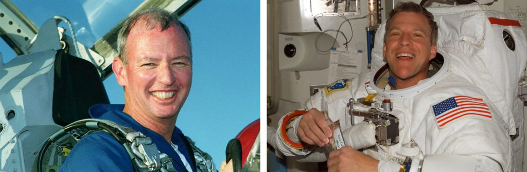 Brian Duffy (left) and Scott Parazynski (right) are the 2016 inductees for the U.S. Astronaut Hall of Fame.