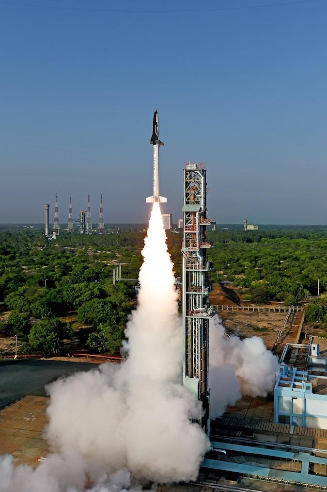 India flies winged space plane on experimental suborbital