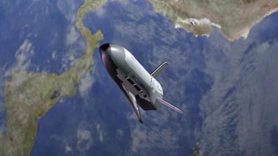 Artist's concept of X-37B in orbit. Credit: Boeing