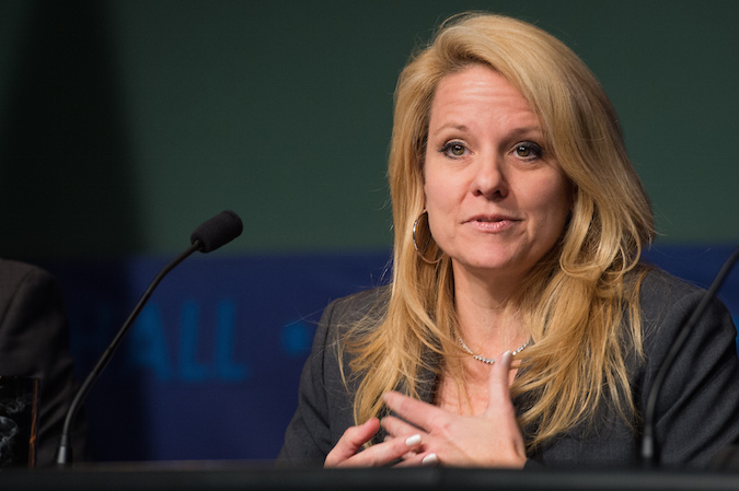 File photo of Gwynne Shotwell, SpaceX's president and chief operating officer. Credit: NASA/Jay Westcott