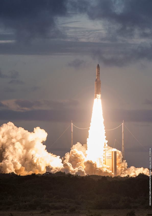 ESA/CNES/Arianespace – Photo Optique Video du CSG – P. Piron