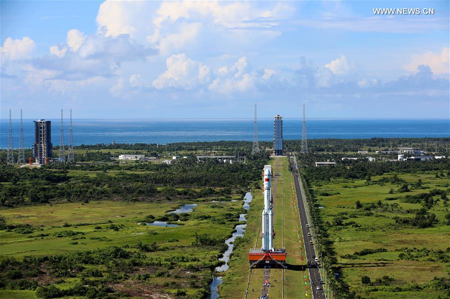 The Wenchang space center lies at 19 degrees north latitude, the closest location to the equator on Chinese territory. Credit: Xinhua