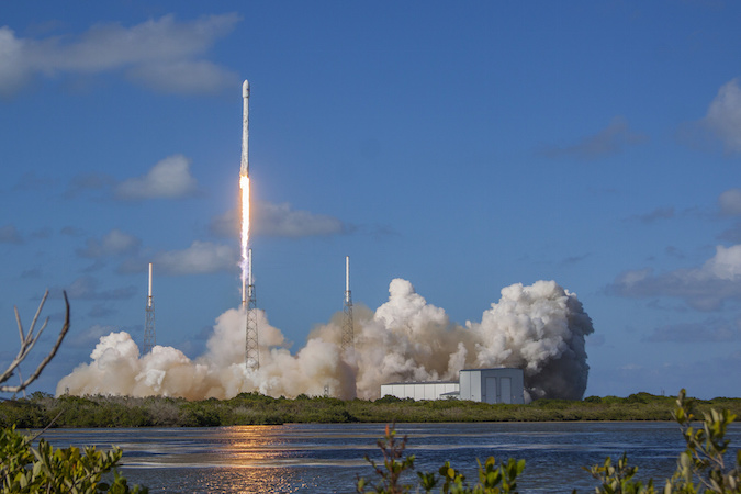 SpaceX launched the Thaicom 8 communications satellite from Cape Canaveral on May 27, marking the 25th flight of a Falcon 9. Credit: SpaceX