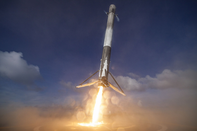 camera aboard SpaceXs drone ship captured this view of the Falcon 9 ...