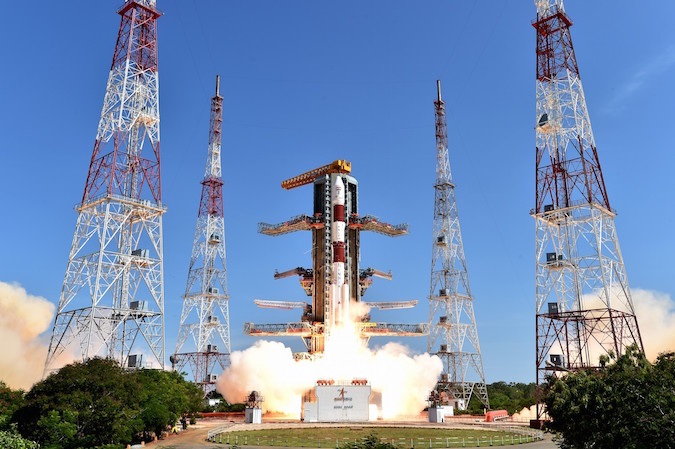 The Polar Satellite Launch Vehicle lifted off at 0356 GMT Wednesday (11:56 p.m. EDT Tuesday), or 9:26 a.m. local time in India. Credit: ISRO