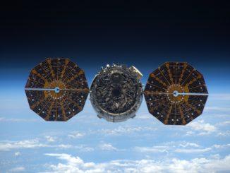 The Cygnus spaceship departed the space station June 14. Credit: NASA/Tim Kopra