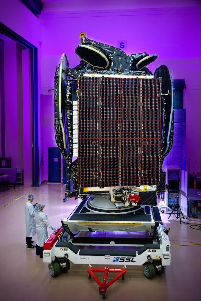 The BRIsat spacecraft was manufactured by Space Systems/Loral in Palo Alto, California. Credit: Space Systems/Loral