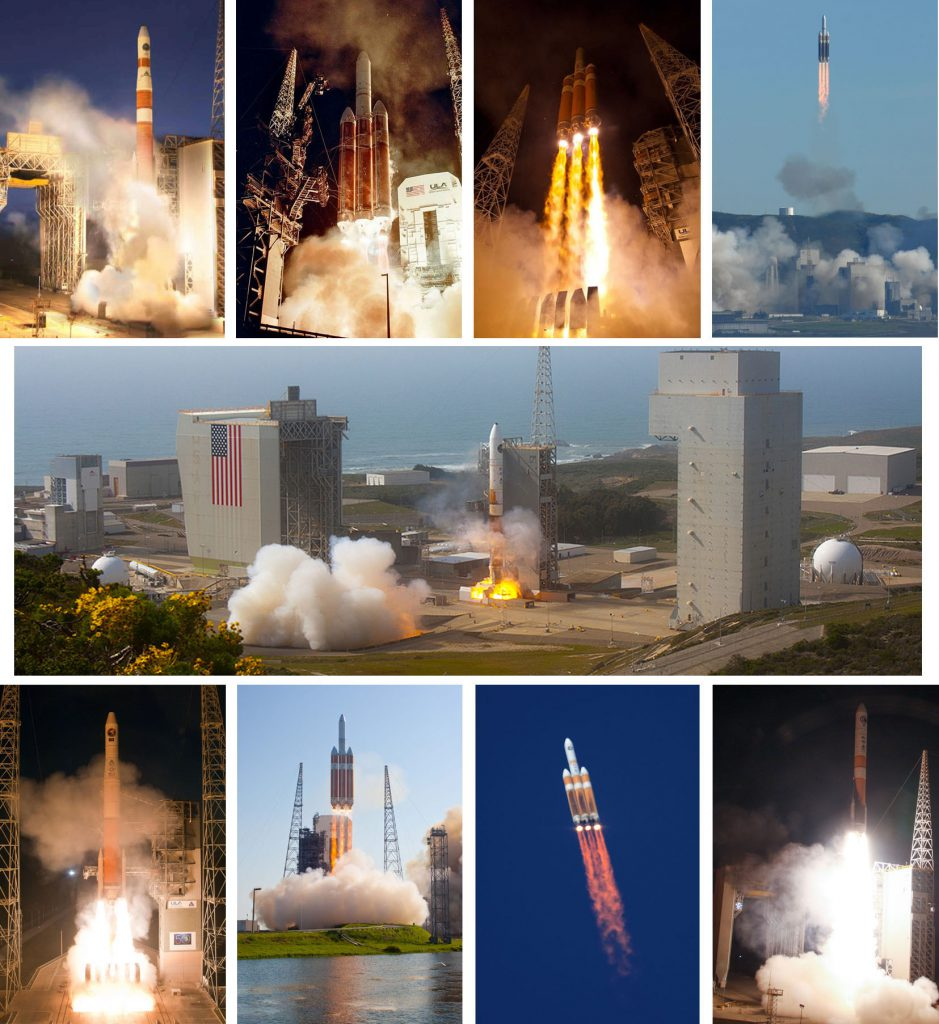 Previous 9 Delta 4 launches for NRO. Photos by Air Force, ULA, Ben Cooper and Gene Blevins